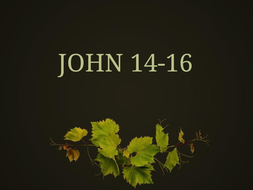 John 14-16 sermon series